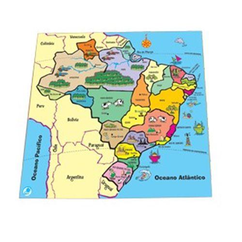 QUEBRA-CABEÇA MAPAS - 204 - SIMQUE