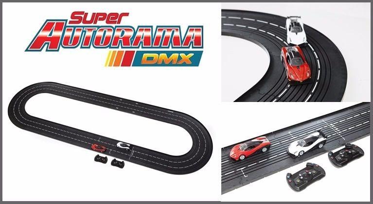 SUPER AUTORAMA DMX CARROS AMARELO E BRANCO - ESTRELA