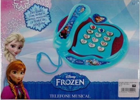 TELEFONE MUSICAL FROZEN - ZIPPY TOYS - REEMBALADO/MOSTRUÁRIO