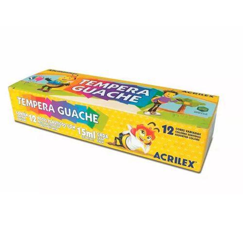 TEMPERA GUACHE 15 ML - 02012 - ACRILEX - CAIXA C/12 POTES