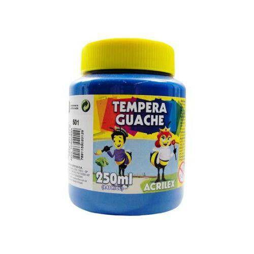 TEMPERA GUACHE AZUL TURQUESA 250 ML - 501 - ACRILEX