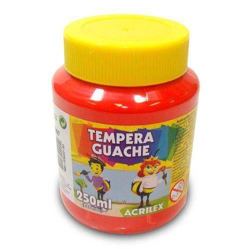 TEMPERA GUACHE VERMELHO FOGO 250 ML - 507 - ACRILEX