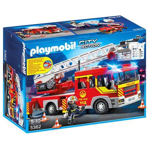 PLAYMOBIL UNIDADE BOMBEIRO COM ESCADA E EQUIPAMENTOS - 1056 - SUNNY
