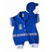 Macacão Bebe Recém Nascido Masculino Bordado Cod 9070