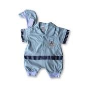 Macacão Bebe Recém Nascido Masculino Bordado Cod 9073