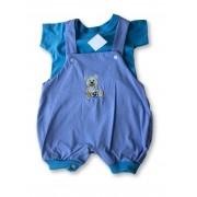 Macacão Bebe Recém Nascido Masculino Bordado Cod 9077