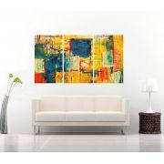 Quadro Abstrato Amarelo Impressão em Canvas Fine Art Cod 7070