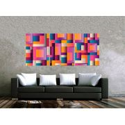 Quadro Formas Abstratas Impressão em Canvas Fine Art Cod 7049