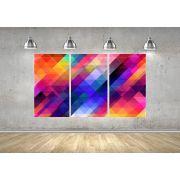 Quadro Formas Coloridas Abstrato Impressão em Canvas Fine Art Cod 7067