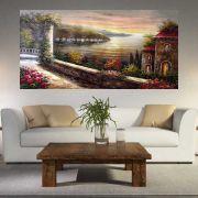 Quadro Pintura Paisagem Óleo Sobre Tela Cod 3001