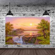 Quadro Pintura Paisagem Óleo Sobre Tela Cod 3003