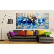 Quadro Pintura Tela Abstrato Moderno Cod 2162