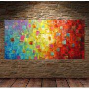 Quadro Pintura Tela Abstrato Moderno Cod 2416