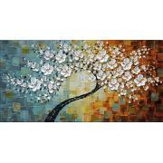 Quadro Pintura Tela Abstrato Moderno Cod 2473