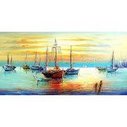 Quadro Pintura Tela Abstrato Moderno Cod 2475