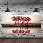 Quadro Pintura Tela Arvores e Flores Modernas Em Altos Relevos Cod 2031
