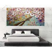 Quadro Pintura Tela Arvores e Flores Modernas Em Altos Relevos Cod 2041