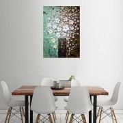 Quadro Pintura Tela Arvores e Flores Modernas Em Altos Relevos Cod 2046