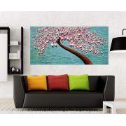 Quadro Pintura Tela Arvores e Flores Modernas Em Altos Relevos Cod 2084