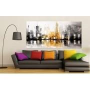 Quadro Pintura Tela Cidade Paisagem Urbana Cod 2435