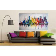 Quadro Pintura Tela Cidade Paisagem Urbana Cod 2439