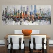 Quadro Pintura Tela Cidade Paisagem Urbana Cod 2443