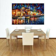 Quadro Pintura Tela Cidade Paisagem Urbana Cod 4006