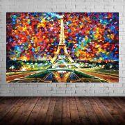 Quadro Pintura Tela Cidade Paisagem Urbana Cod 4010