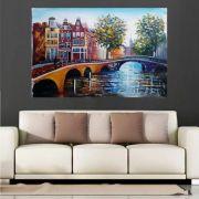 Quadro Pintura Tela Cidade Paisagem Urbana Cod 4012