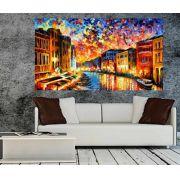 Quadro Pintura Tela Cidade Paisagem Urbana Cod 4021