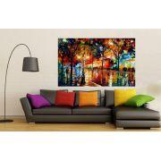 Quadro Pintura Tela Cidade Paisagem Urbana Cod 4022