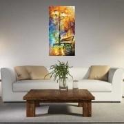 Quadro Pintura Tela Cidade Paisagem Urbana Cod 4301