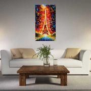 Quadro Pintura Tela Cidade Paisagem Urbana Cod 4305