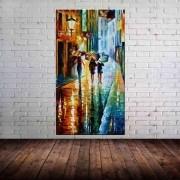 Quadro Pintura Tela Cidade Paisagem Urbana Cod 4315