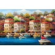 Quadro Pintura Tela Cidade Paisagem Urbana Cod 4502