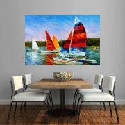 Quadro Pintura Tela Moderna Marinas Cod 2426