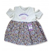 Vestido Bebê Recém Nascido Feminino Menina Cod 9052