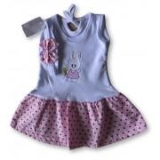 Vestido Com Tiara Bebê Recém Nascido Feminino Menina Cod 9095