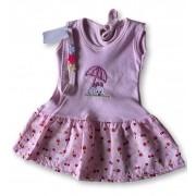 Vestido Com Tiara Bebê Recém Nascido Feminino Menina Cod 9096