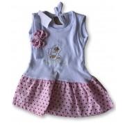 Vestido Com Tiara Bebê Recém Nascido Feminino Menina Cod 9098