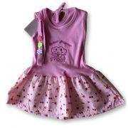Vestido Com Tiara Bebê Recém Nascido Feminino Menina Cod 9100