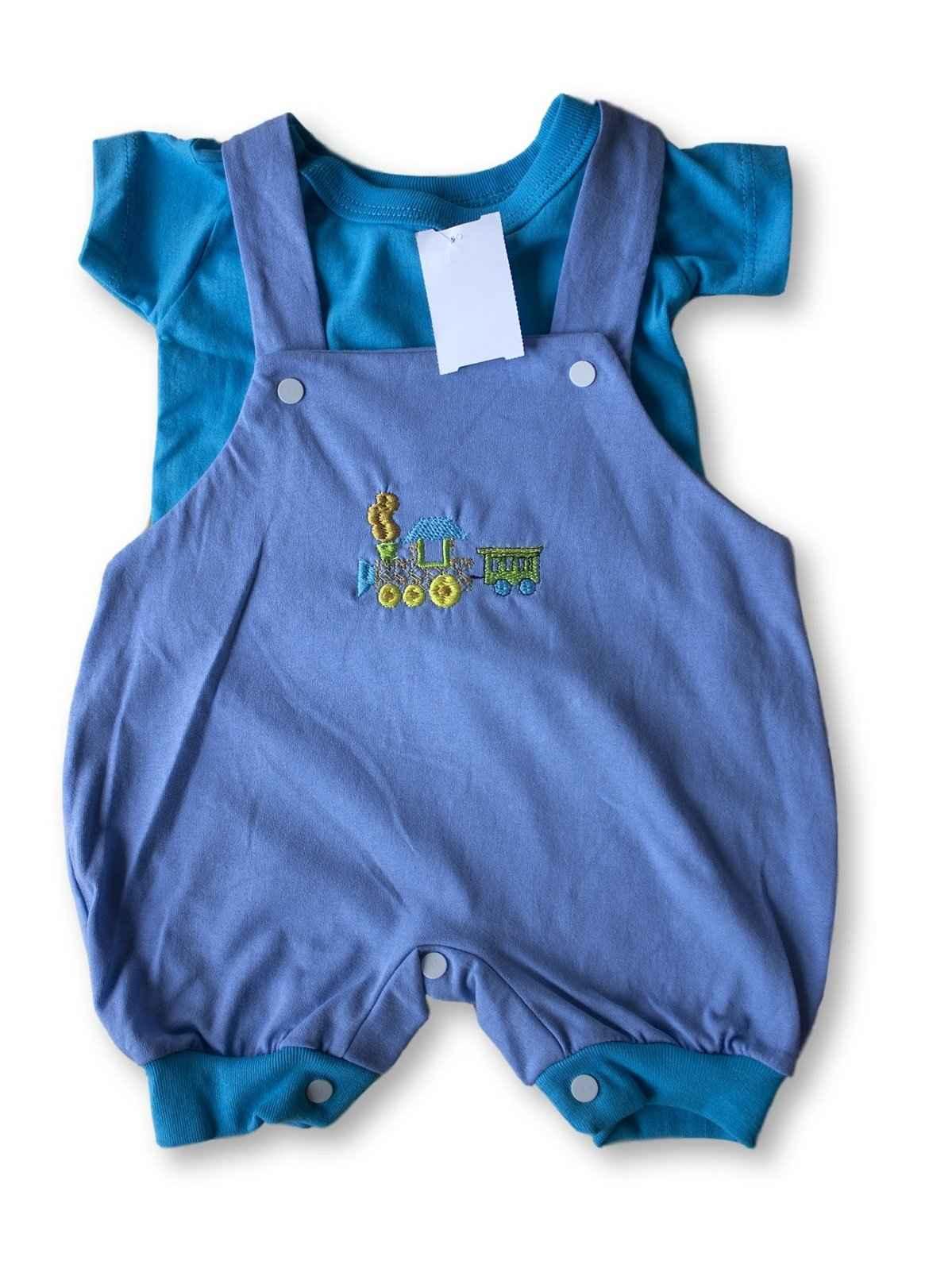 Macacão Bebe Recém Nascido Masculino Bordado Cod 9076