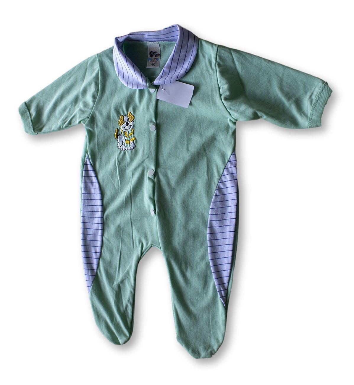 Macacão Bebe Recém Nascido Masculino Bordado Cod 9111