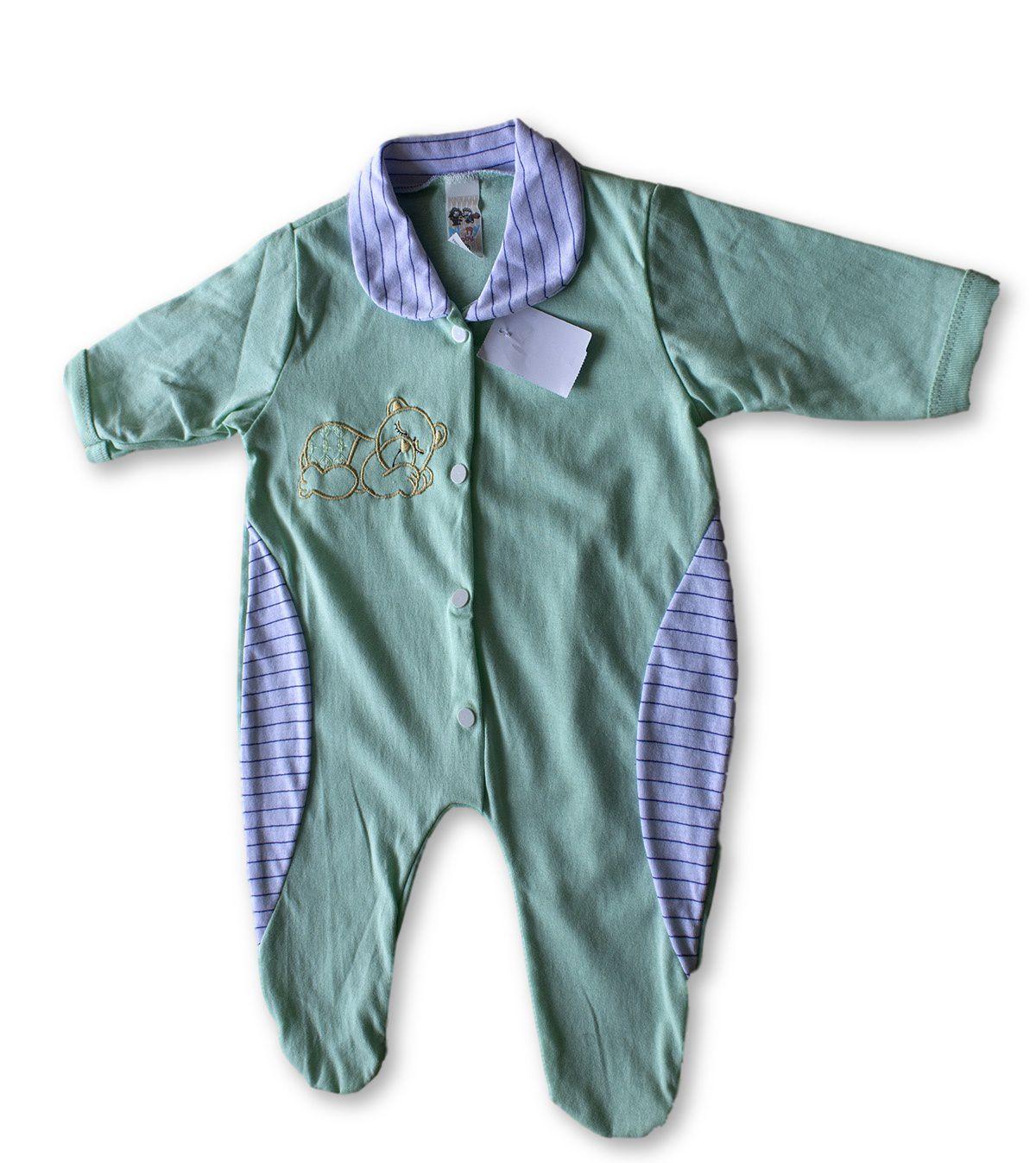 Macacão Bebe Recém Nascido Masculino Bordado Cod 9112