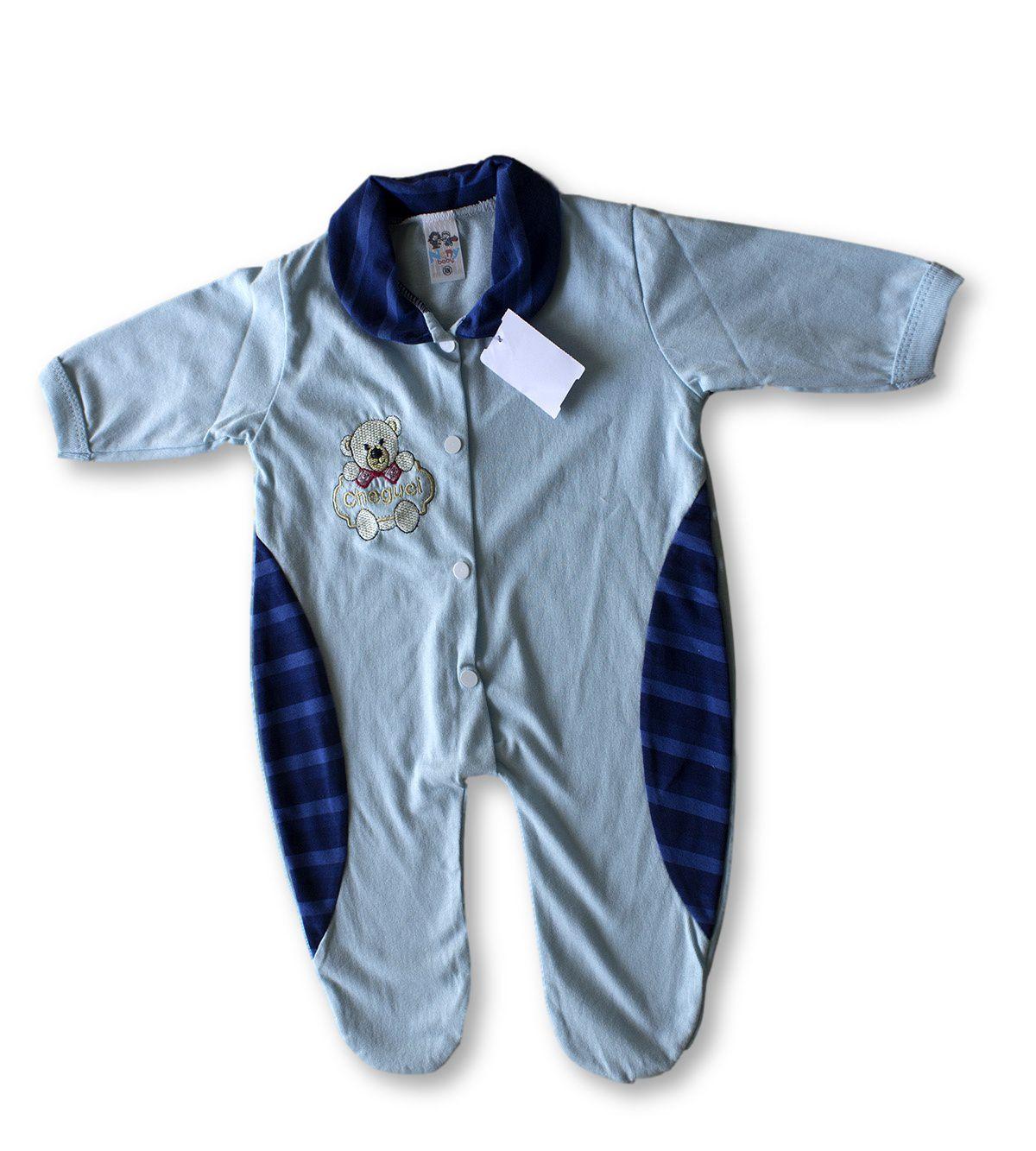 Macacão Bebe Recém Nascido Masculino Bordado Cod 9116