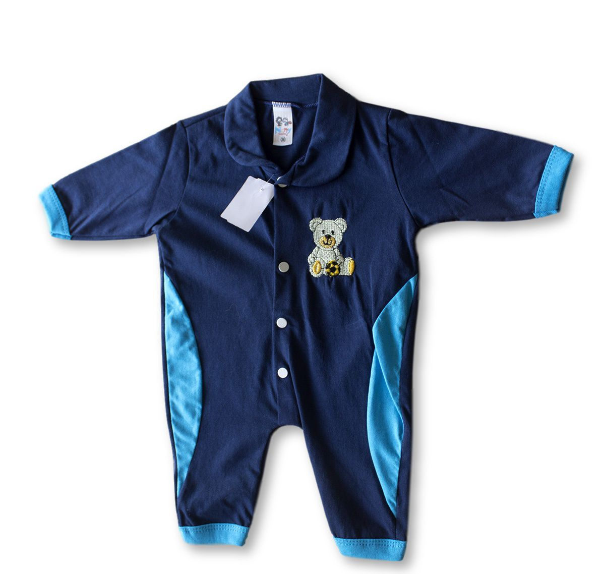 Macacão Bebe Recém Nascido Masculino Bordado Cod 9125