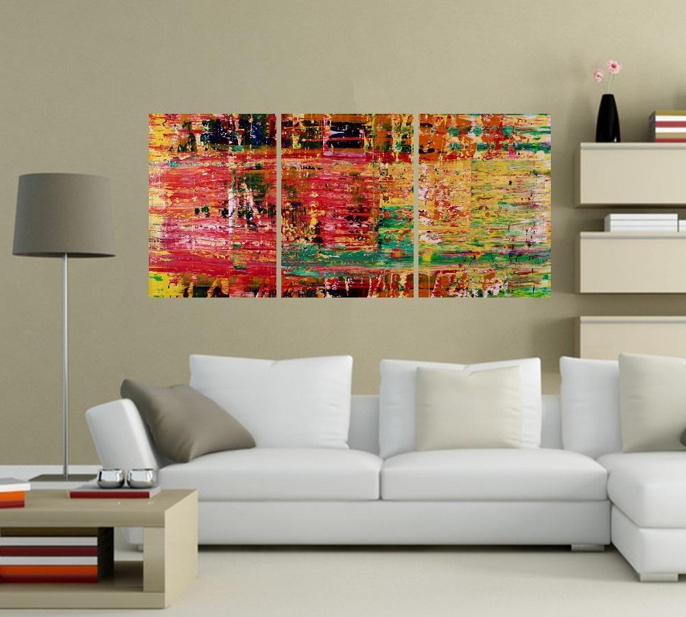 Quadro Abstrato Colorido Impressão em Canvas Fine Art Cod 7025