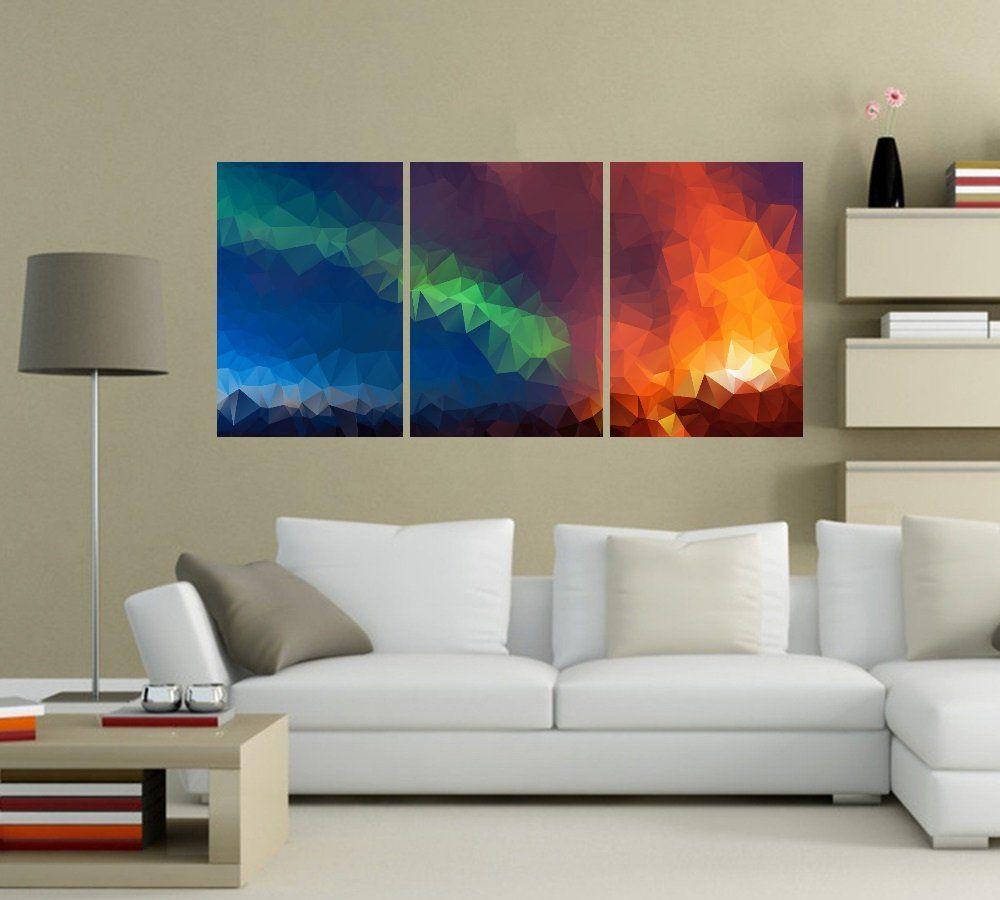 Quadro Abstrato Colorido Impressão em Canvas Fine Art Cod 7047