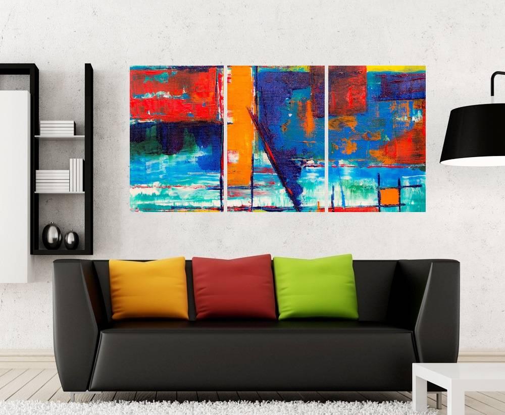 Quadro Abstrato Impressão em Canvas Fine Art Cod 7036