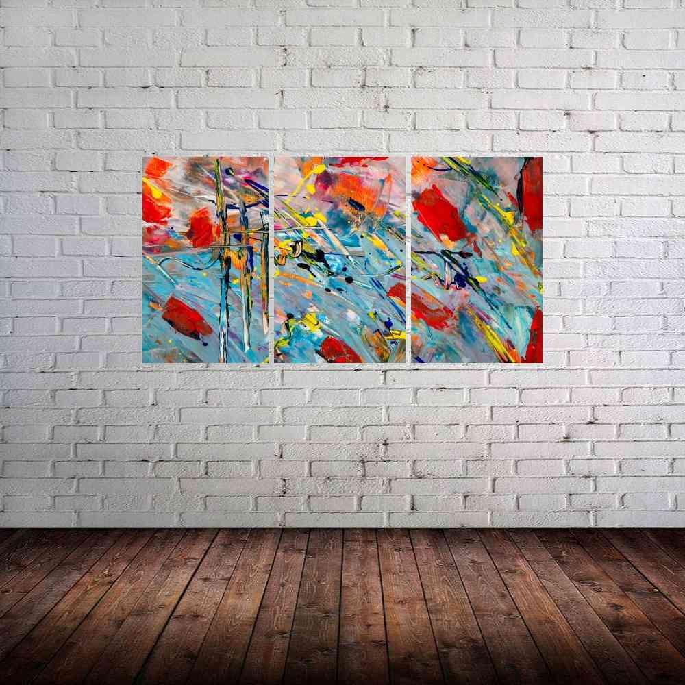Quadro Aquarela Impressão em Canvas Fine Art Cod 7051